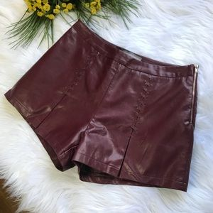 LIZARD THICKET ADDIE FAUX LEATHER SHORTS
